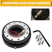 STEERING WHEEL BALL QUICK RELEASE Hub Adapter Snap Off Boss Kit Universal Black