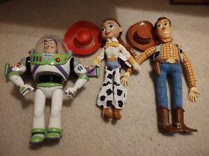 Vintage Toy Story Woody Pull String, Jessie, Buzz (Thinkway Mattel Disney Pixar)