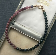 "TOURMALINE BRACELET PINKS 8"" 14K GOLD FILLED"