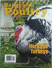 Backyard Poultry Oct Nov 2016 Raising Heritage Turkeys Poultry FREE SHIPPING sb