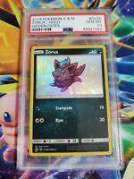 "PSA 10 Shiny Zorua SV25/SV94 ""Hidden Fates"" Pokemon Card"