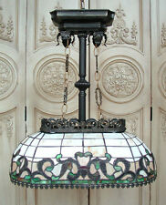 Lampe Tiffanylampe Hängelampe Oval Jugendstil Leuchte 060009