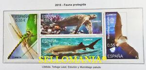 2015 FAUNA PROTEGIDA  LIBELULA  EDIFIL 4982 / 85 ** MNH HB TURTLE        TC20506