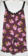 New Betsey Johnson Purple Romper Size Medium Womens Pajamas Sleepwear Clothing