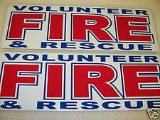 Volunteer Fire & Rescue Magnetic Sign Fireman Volunteer