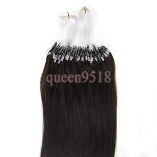Easy Loop Micro Ring Bead Ombre Hair Remy Human Hair Extensions Straight 16-26""