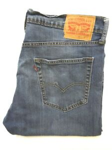 LEVI'S 504 JEANS MEN'S STRETCH REGULAR STRAIGHT LEG W36 L34 MID BLUE LEVS231