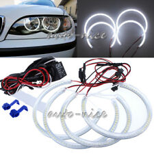 2X131MM+2X146MM White SMD LED Angel Eyes Halo Rings For BMW E46 Non-projector