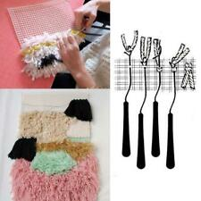 Rug Hooking Mesh Canvas Wooden Bent Latch Hook Kits for Tapestry Carpet Rug Diy