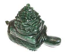 Kachap Meru Shree Yantra / Kurma Shree Yantra In Green Jade - 545 gms