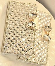 Luxury Bling Diamond Wallet Flip Case Cover For Samsung Galaxy S7 Edge White