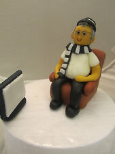 Newcastle football supporter & TV cake topper figure edible can be personalised