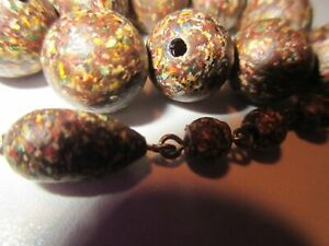 """VINTAGE LOT OF 24-""""Marbled Beads"""" + Misc.~ Antique Jewelry 4 Crafts-""""UN-TESTED"""""""