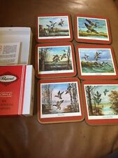 Six Traditional  Acrylic Coasters By Pimpernel. Wild Fowl