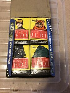 TOPPS 1983 STAR WARS, RETURN OF THE JEDI SERIES 1 WAX BOX WITH 36 UNOPENED PACKS