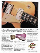 Gibson Custom 1957 Les Paul Goldtop Reissue Guitar ad 8 x 11 advertisement print