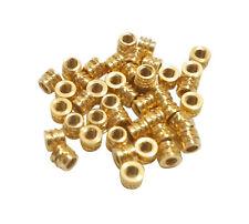 20x #2 2-56 Short Brass Threaded Heat Set Inserts for Plastic 3D Printing Metal