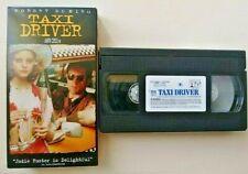 VHS 1995 TAXI DRIVER Movie Video Columbia Tristar Robert De Niro Jodie Foster