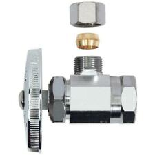 BrassCraft 1/2 in. FIP Inlet x 3/8 in. O.D. Comp Outlet Multi Turn Angle Valve