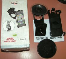 Verizon Window & Dash Vehicle mount for iPhone 4/4s, New, inspected for contents