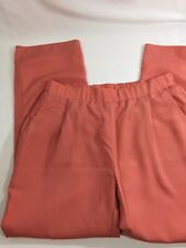 THML Women Pink Dress Pants Stretch Thin See Through Fabric Inseam 27inchSize M