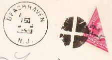Beachhaven NJ Fancy 2c BISECT to Make 1c Local Rate Manuscript On Stamp Cover 1z