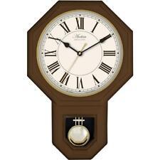 Acctim Yarnton Radio Control Pendulum Wall Clock 46cm Dark Wood Effect 76086 New