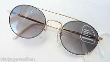 Eschenbach Doppelsteg Sonnenbrille ovale Glasform Damen Herren gold grau size M