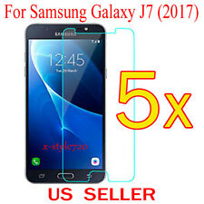 5x Clear Screen Protector Guard Cover Film Shield For Samsung Galaxy J7  (2017)