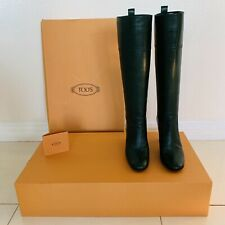 Tod's Knee High Leather Boots Sz 5M