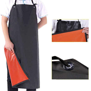 FunMove Waterproof Leather Apron Chemical Acid Stain Oil Resistance Industrial W