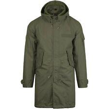 Pretty Green Whitworth Fishtail Parka BNWT chaqueta de color caqui XL £ 160 Capucha Desmontable