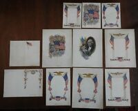 Americana Printer's Sample Lot c 1900-20 Flags Eagles Washington lot of 11 cards
