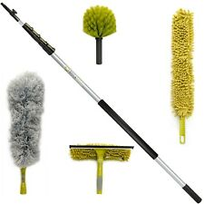 DocaPole Cleaning Kit with 24 Foot Extension Pole // Includes 3 Dusting Attachme