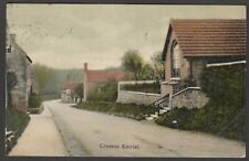 Postcard Croxton Kerrial nr Melton Mowbray Leicestershire village posted 1910
