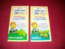 MINI GUIDE PER PIANTARE PREZZEMOLO BASILICO AMICI DEL MULINO BIANCO ADVERTISING