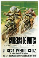 Motorcycle Racing Promotion Poster Print, 13x19