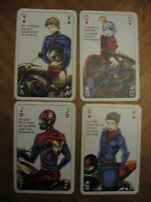 JEU DE CARTES ASSURANCES GEMA EDUCATION ROUTIERE CYCLO MOTO POLICE CRS JOKER