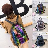 Women Sequin Bag Backpack Messenger Satchel Travel Shoulder  Ladies Fashion Big