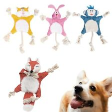 New listing Puppy Cute Squeaky Interactive Sound Bite Toys Chew Toy Dog Rope Toys Squeaker
