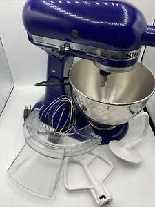 KitchenAid Ultra Power KSM90BU Cobalt Blue Tilt Head Mixer Attachments
