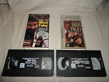 TESTED Wrestling VHS Lot Mick Foley WWF WWE Hard Knock & Cheap Pop/Three Face of