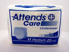 Attends Care Underwear Heavy Medium 20 Count 34-44 Latex Free Breathable