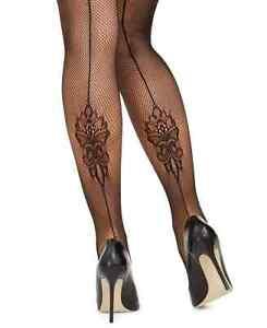 🌷🌼 Designer INC International Concepts Women's Lace Sexy Backseam Tights Black