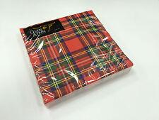 Royal Stewart Tartan Tissue Paper Napkins Pack of 20 Brand New & Sealed