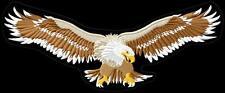 Eagle wide wings XL Aquila toppa ricamata termoadesivo iron-on patch Aufnäher
