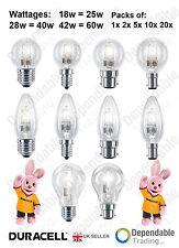 DURACELL GLS D'éconergétiques halogène Balle de golf & Bougie ampoules