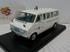 "NEO 46940 - Dodge Sportsman San Diego Police Ambulance in "" weiß "" 1:43 NEU"