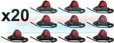 20 x 12V / 24V rosso small round LED PULSANTE POSTERIORE LUCI / Luci Universale Camion