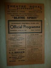 1945/46 LEAGUE SOUTH CUP: ALDERSHOT v CRYSTAL PALACE -  RARE